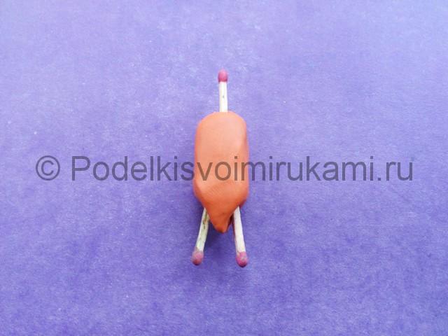 Лепка Фокси из пластилина - фото 7.