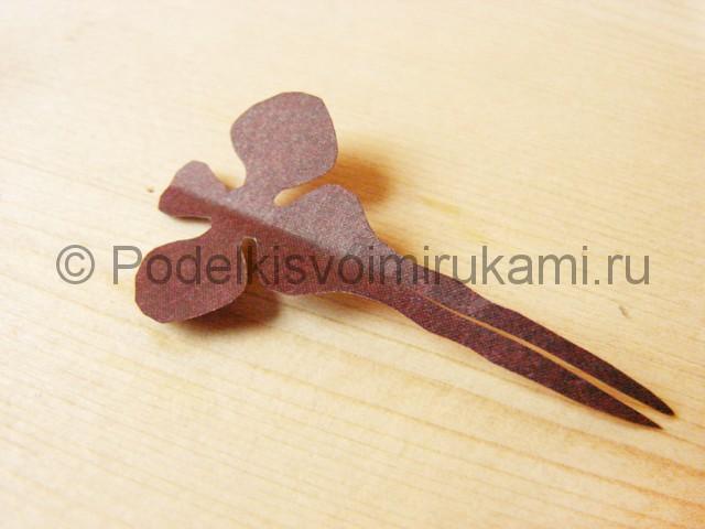 Изготовление орхидеи из бумаги - фото 10.