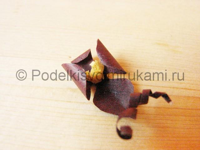Изготовление орхидеи из бумаги - фото 17.