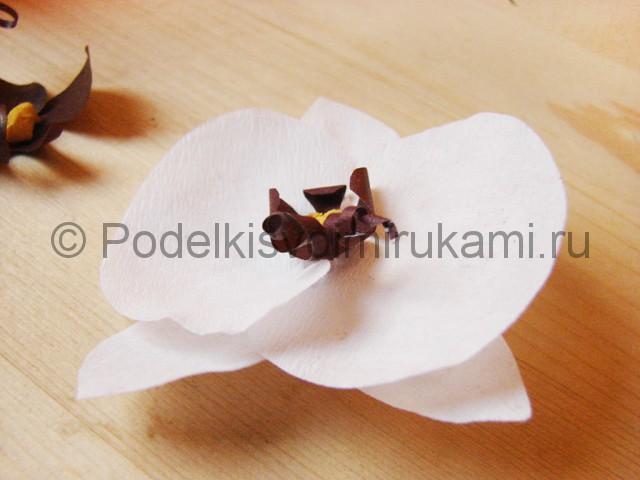 Изготовление орхидеи из бумаги - фото 22.