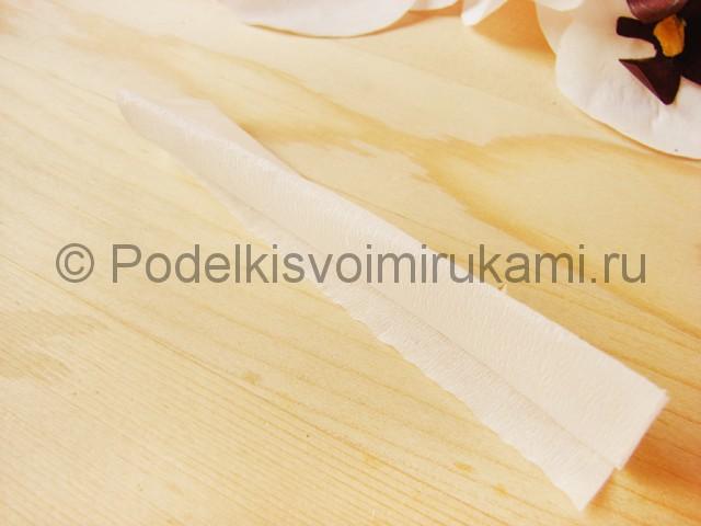 Изготовление орхидеи из бумаги - фото 26.