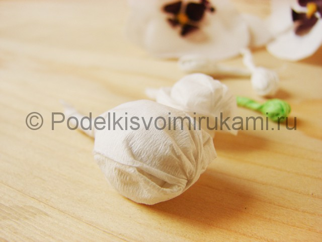 Изготовление орхидеи из бумаги - фото 30.