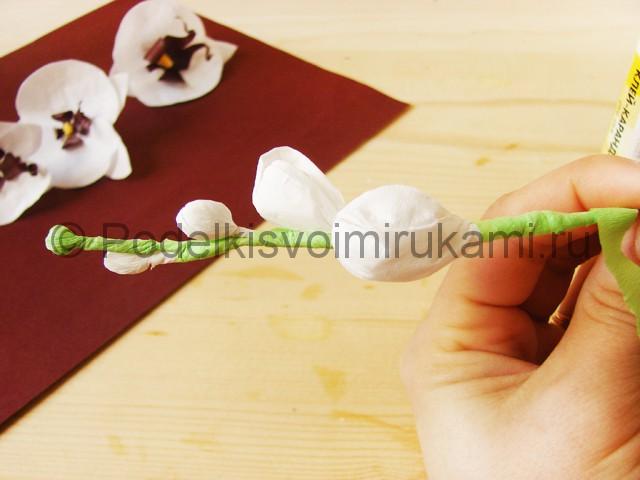 Изготовление орхидеи из бумаги - фото 33.