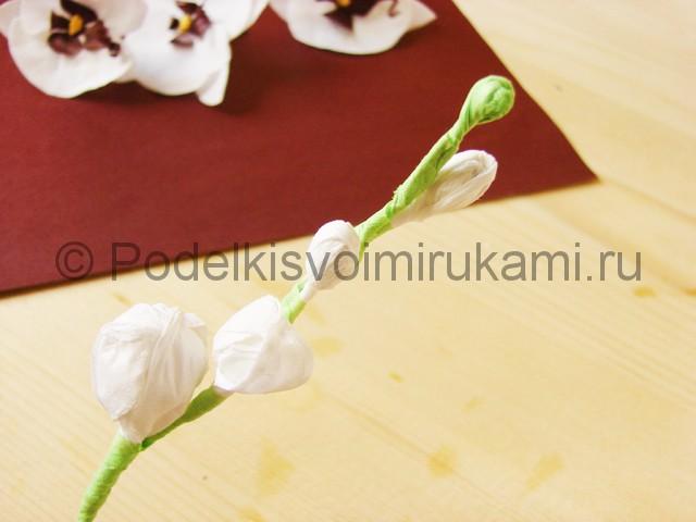 Изготовление орхидеи из бумаги - фото 34.