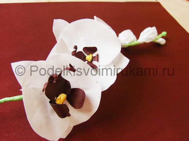 Изготовление орхидеи из бумаги - фото 35.