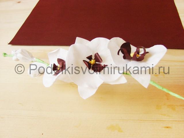 Изготовление орхидеи из бумаги - фото 36.