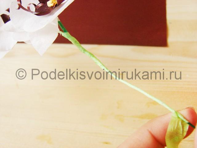 Изготовление орхидеи из бумаги - фото 37.