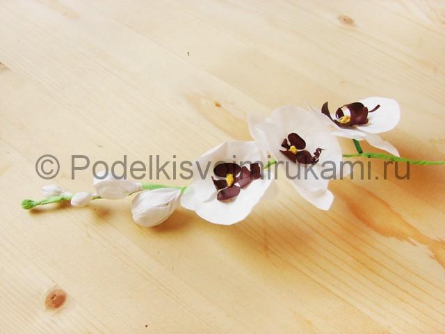 Изготовление орхидеи из бумаги - фото 38.