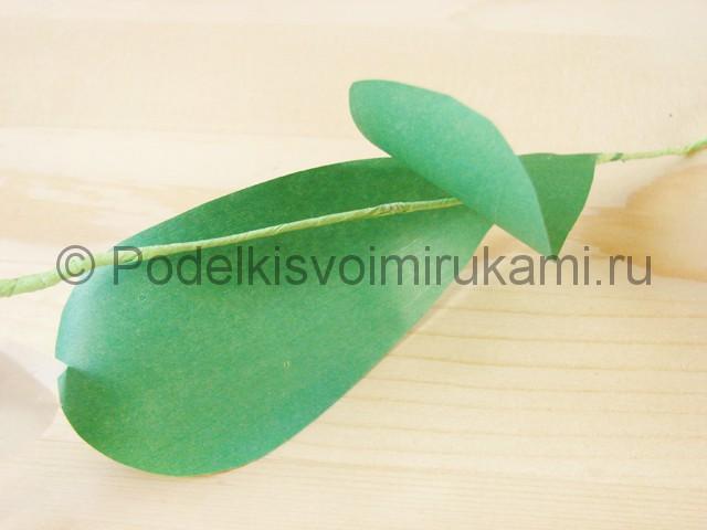 Изготовление орхидеи из бумаги - фото 42.
