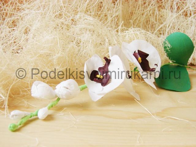 Изготовление орхидеи из бумаги - фото 43.