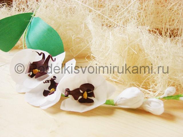 Изготовление орхидеи из бумаги - фото 44.