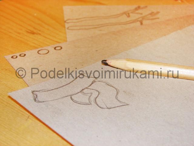 Изготовление снеговика из бумаги - фото 13.