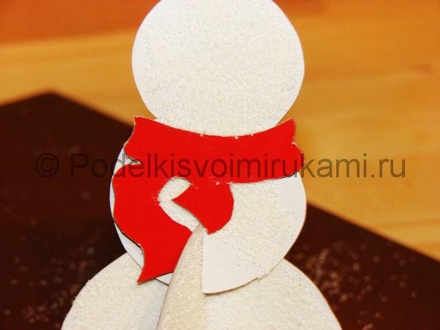 Изготовление снеговика из бумаги - фото 22.