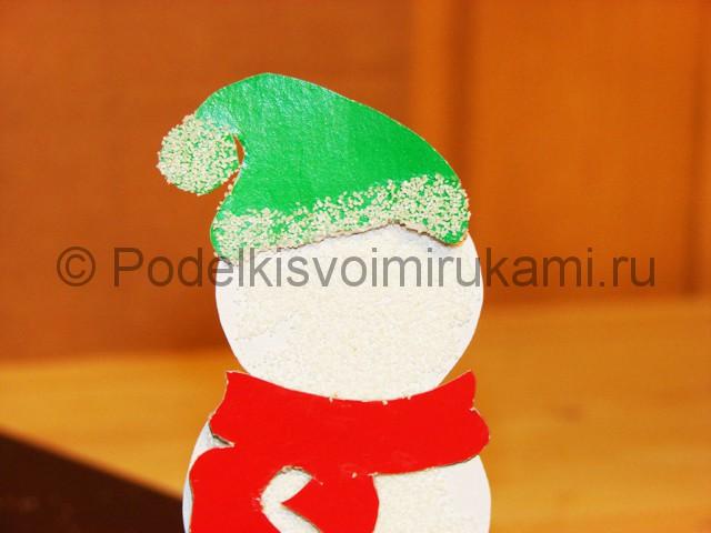 Изготовление снеговика из бумаги - фото 23.