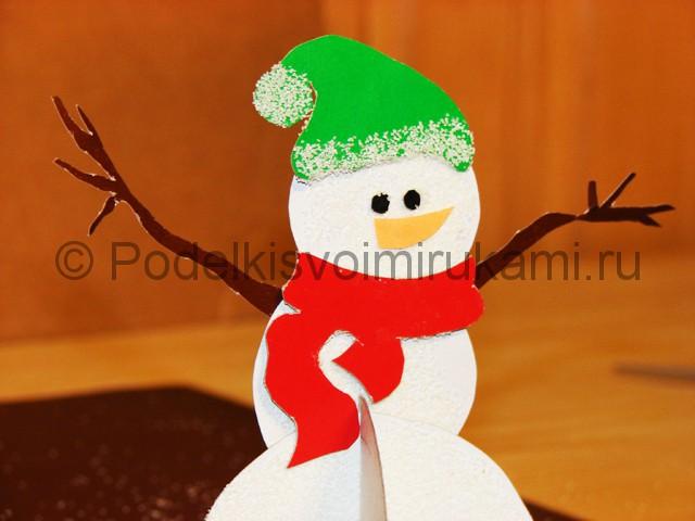 Изготовление снеговика из бумаги - фото 25.