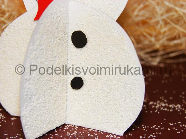 Изготовление снеговика из бумаги - фото 26.