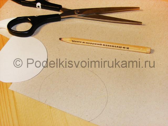 Изготовление снеговика из бумаги - фото 3.