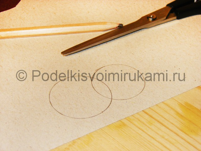 Изготовление снеговика из бумаги - фото 4.
