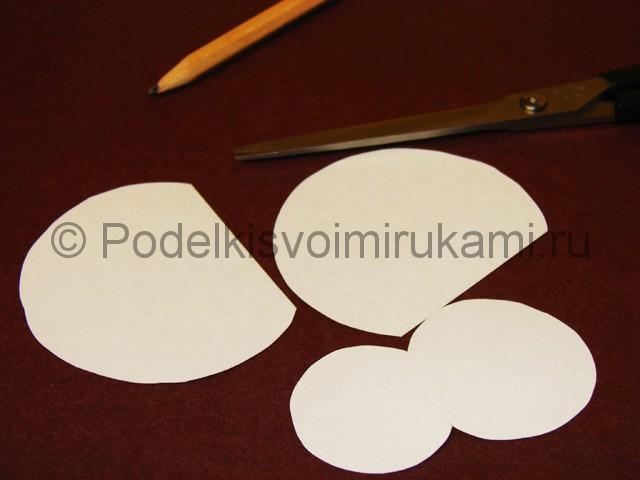Изготовление снеговика из бумаги - фото 5.