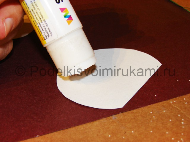 Изготовление снеговика из бумаги - фото 6.