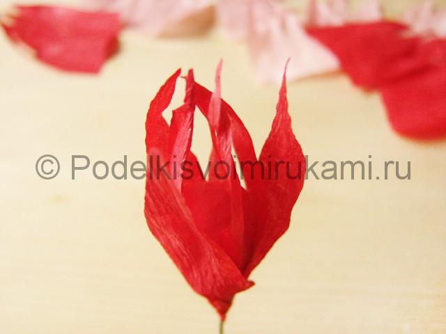 Поделка хризантемы из бумаги - фото 12.