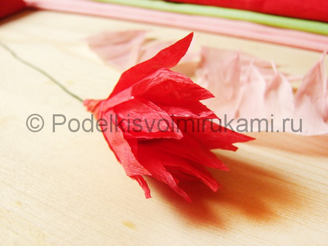 Поделка хризантемы из бумаги - фото 13.