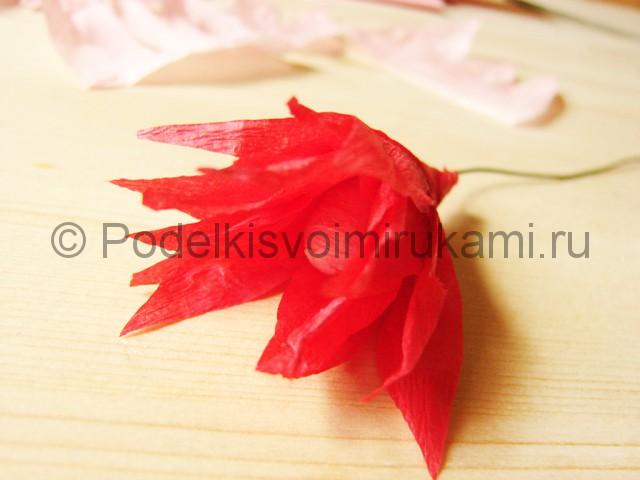 Поделка хризантемы из бумаги - фото 14.