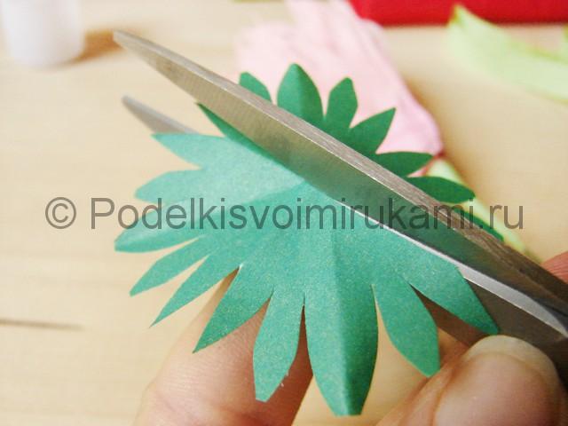 Поделка хризантемы из бумаги - фото 23.