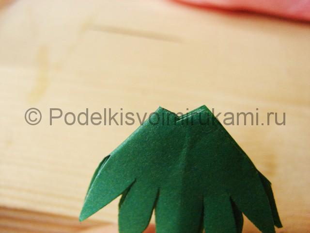 Поделка хризантемы из бумаги - фото 24.