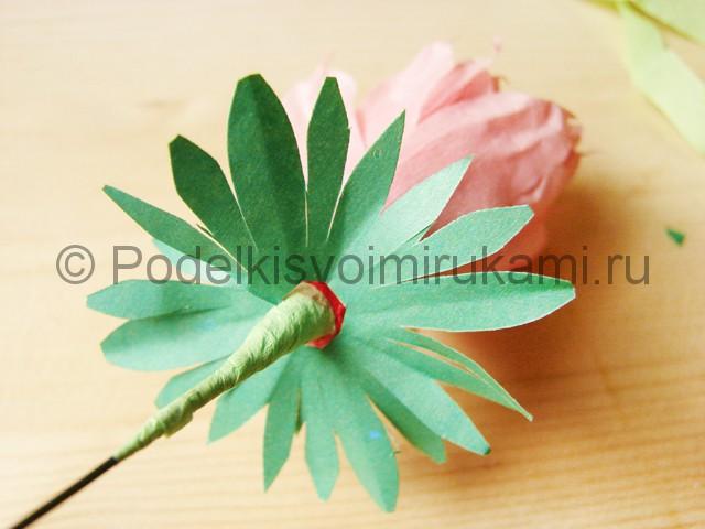Поделка хризантемы из бумаги - фото 25.