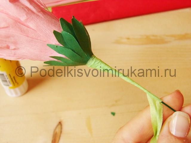 Поделка хризантемы из бумаги - фото 28.