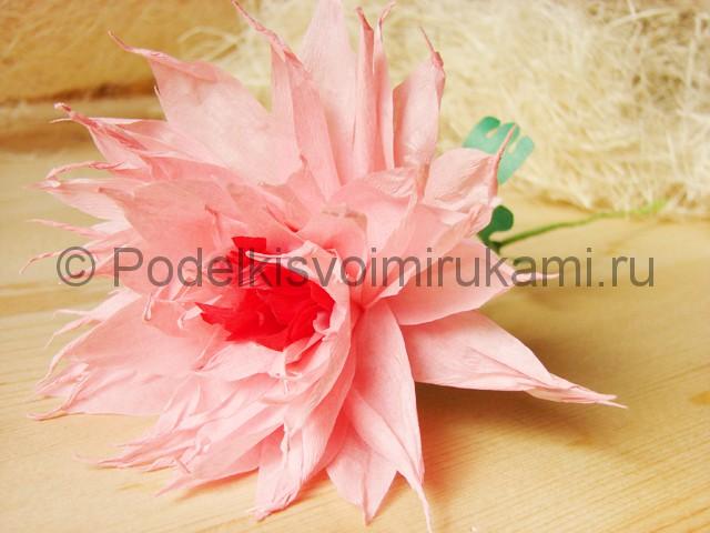 Поделка хризантемы из бумаги - фото 45.