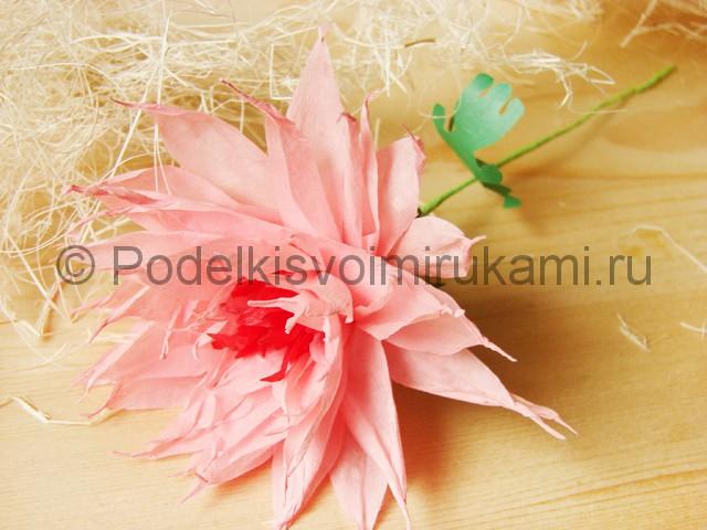 Поделка хризантемы из бумаги - фото 46.
