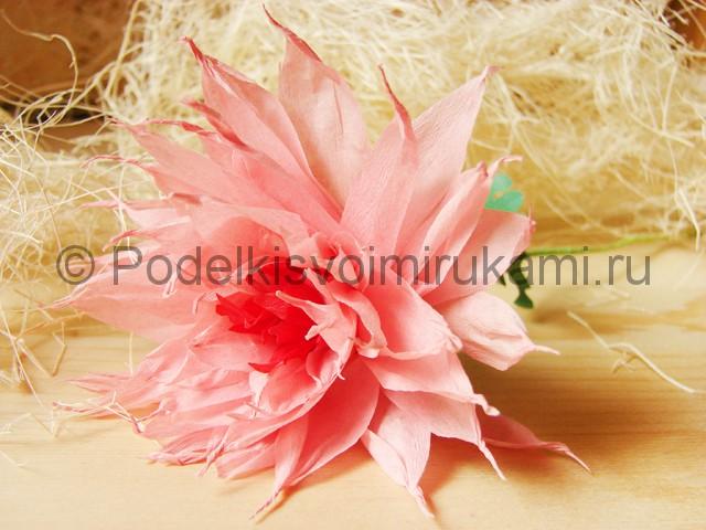 Поделка хризантемы из бумаги - фото 47.