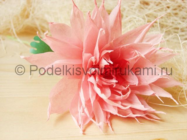 Поделка хризантемы из бумаги - фото 48.