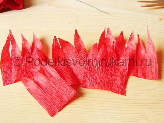 Поделка хризантемы из бумаги - фото 6.