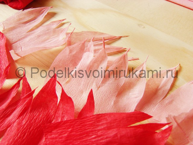 Поделка хризантемы из бумаги - фото 7.