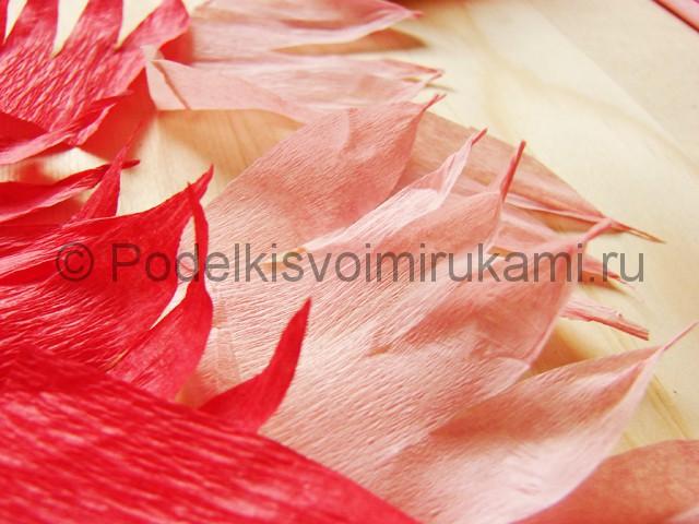 Поделка хризантемы из бумаги - фото 8.