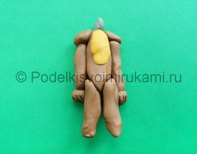 Лепка аниматроника Спарки из пластилина - фото 8.
