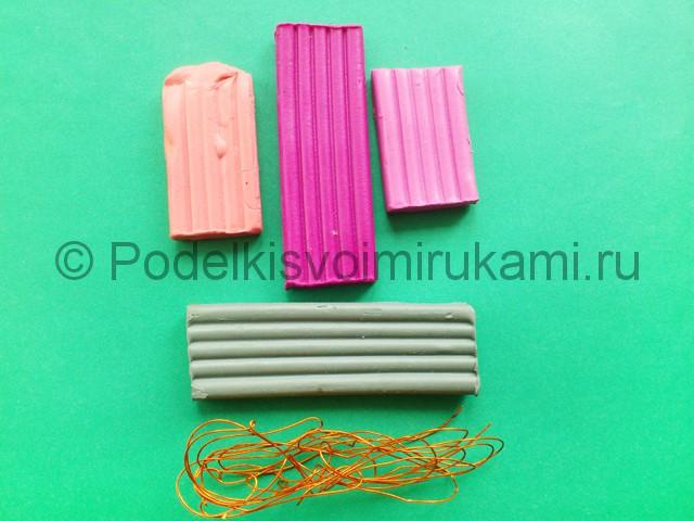 Лепка фламинго из пластилина - фото 1.
