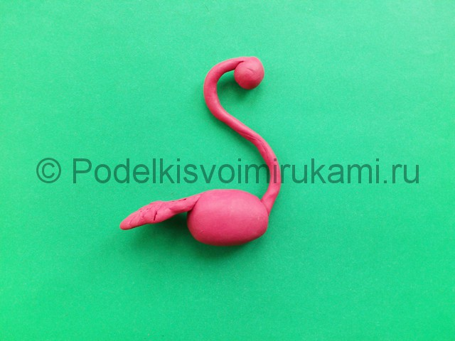 Лепка фламинго из пластилина - фото 10.