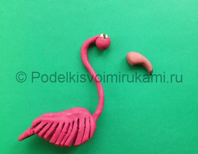 Лепка фламинго из пластилина - фото 12.