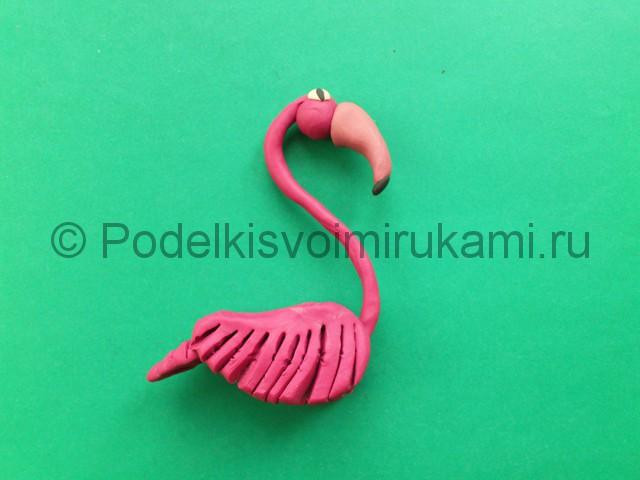 Лепка фламинго из пластилина - фото 13.