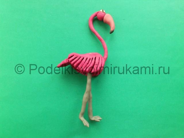 Лепка фламинго из пластилина - фото 16.
