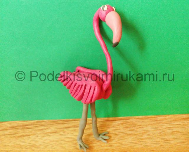 Лепка фламинго из пластилина - фото 17.