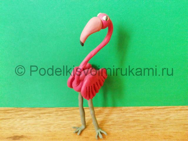 Лепка фламинго из пластилина - фото 18.