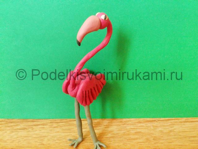 Лепка фламинго из пластилина - фото 19.