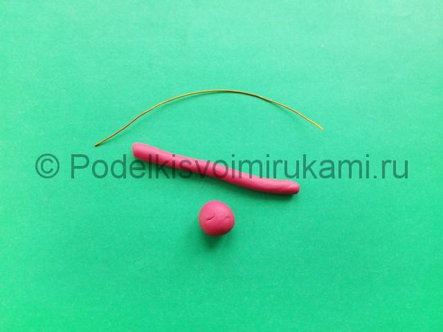 Лепка фламинго из пластилина - фото 2.