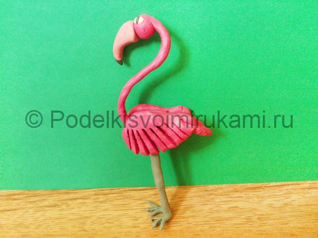 Лепка фламинго из пластилина - фото 20.