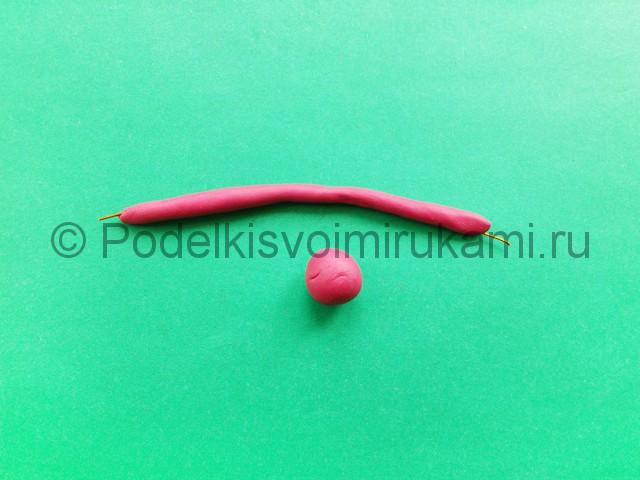 Лепка фламинго из пластилина - фото 3.